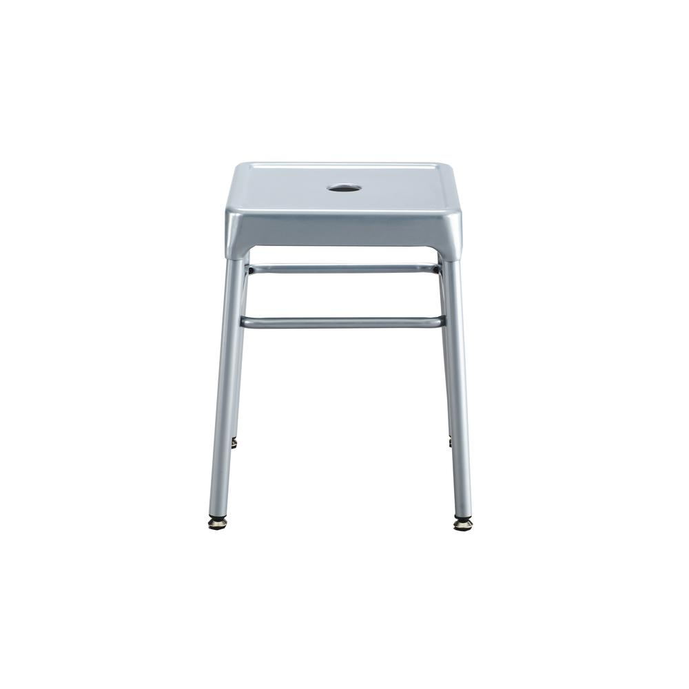 Safco® Steel Guest Stool Silver. Picture 5