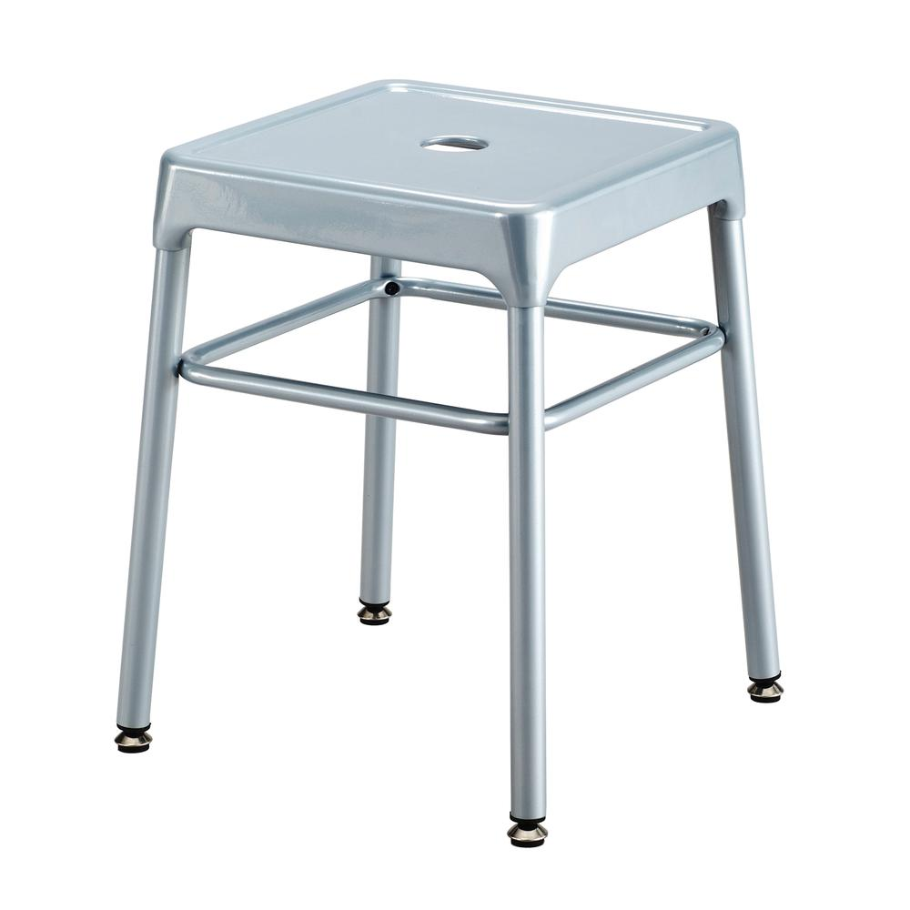 Safco® Steel Guest Stool Silver. Picture 2