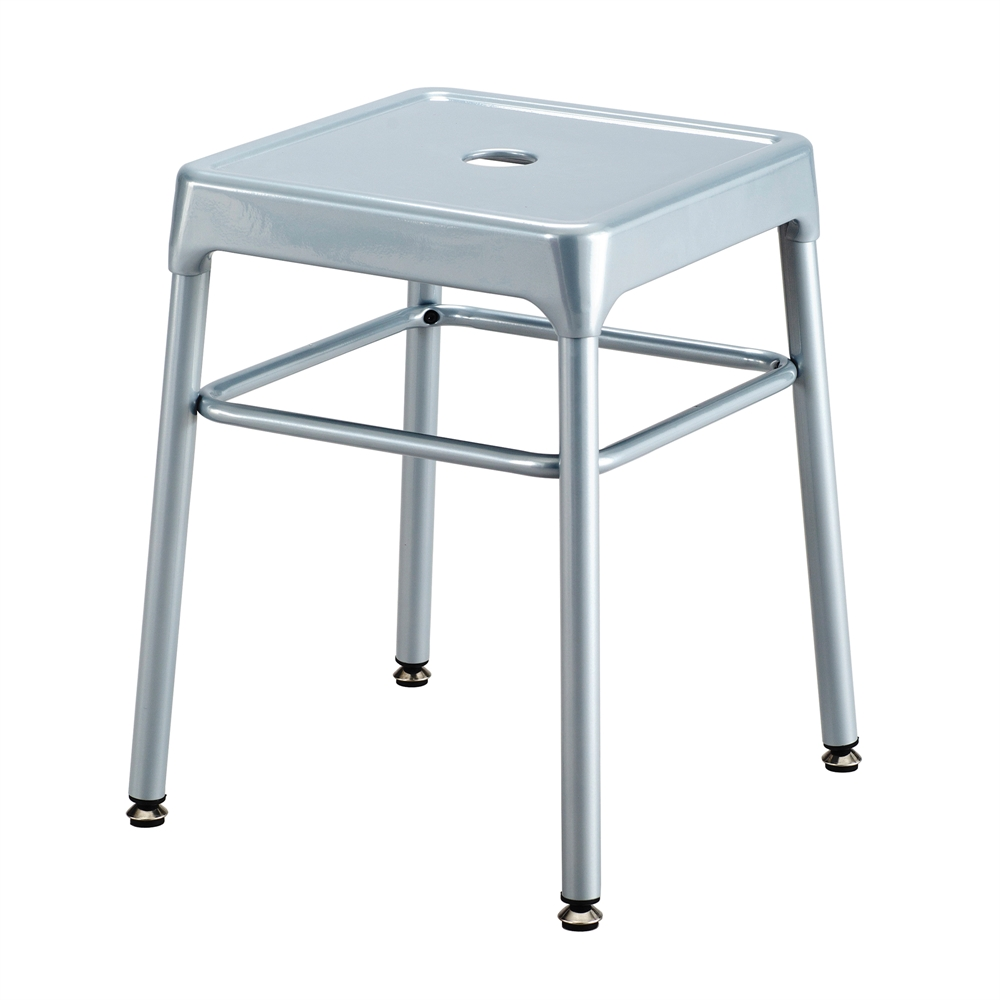 Safco® Steel Guest Stool Silver. Picture 1