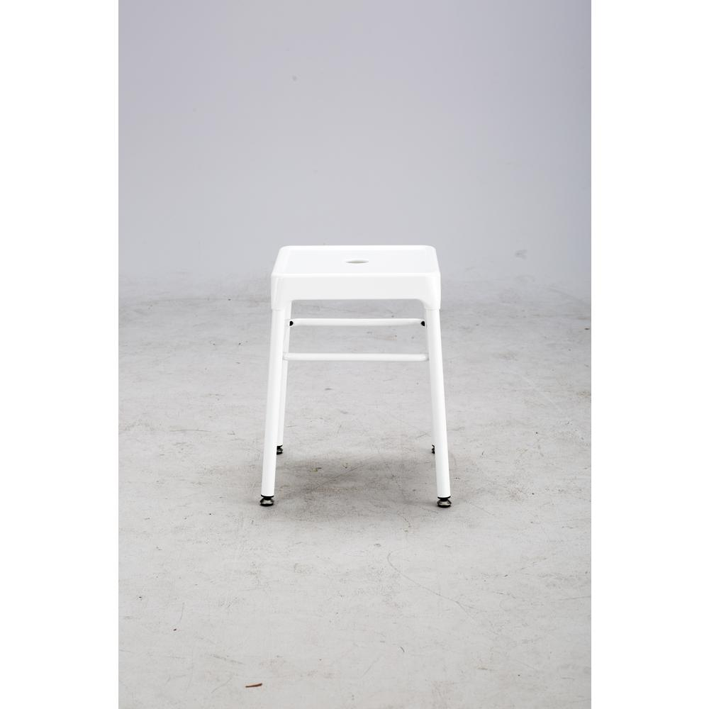 Safco® Steel Guest Stool White. Picture 3