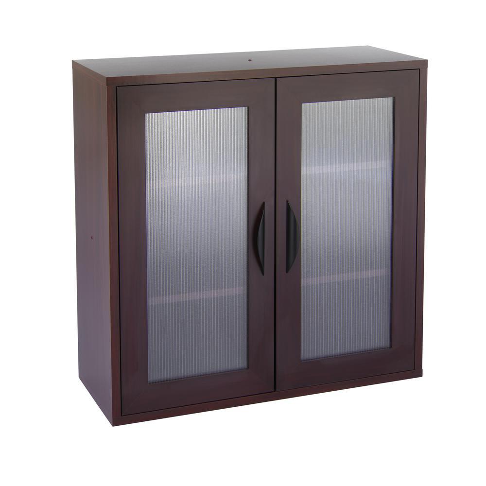 Après Two-Door Cabinet, 29-3/4w x 11-3/4d x 29-3/4h, Mahogany. Picture 2