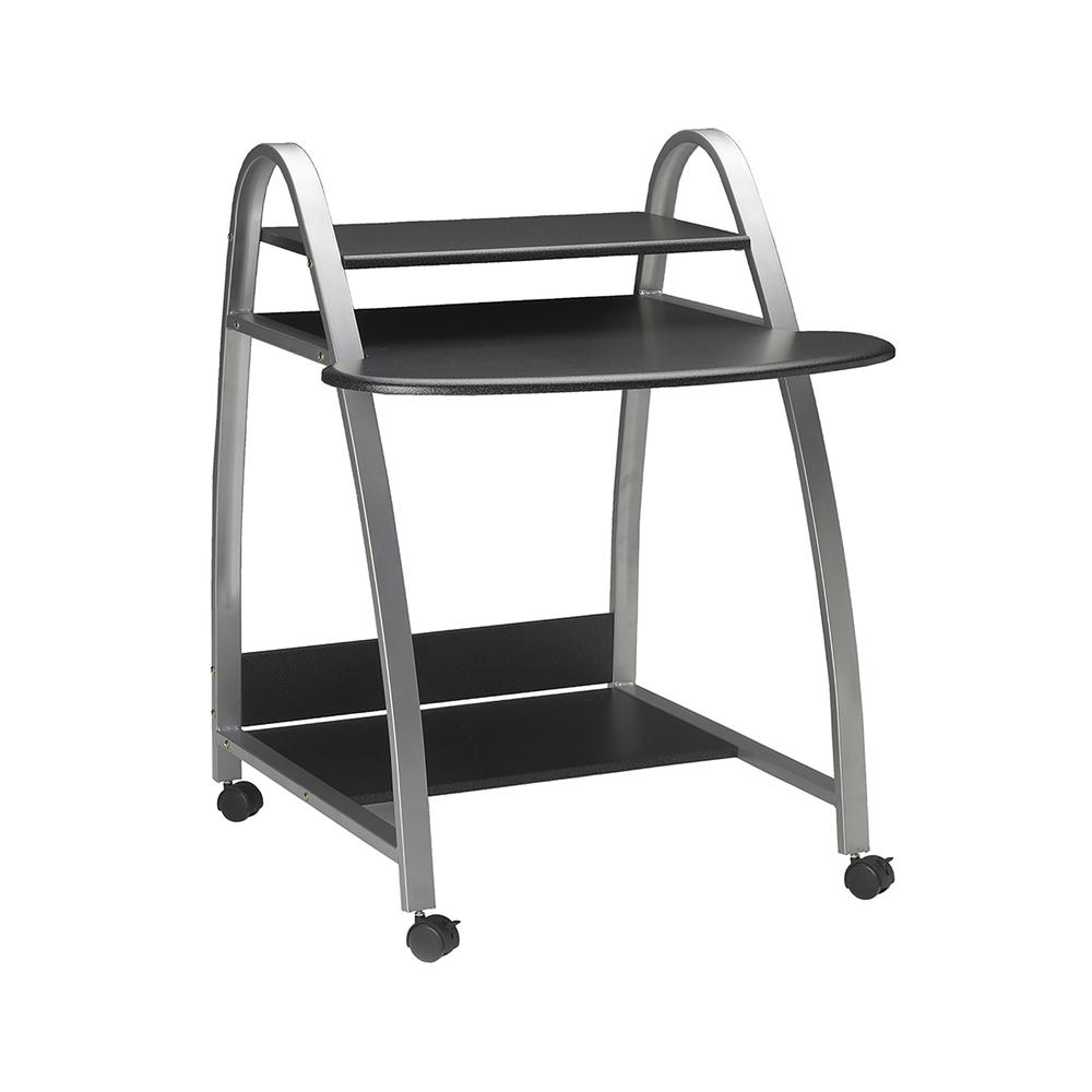 Eastwinds Arch Computer Cart, 31-1/2w x 34-1/2d x 37h, Anthracite. Picture 2