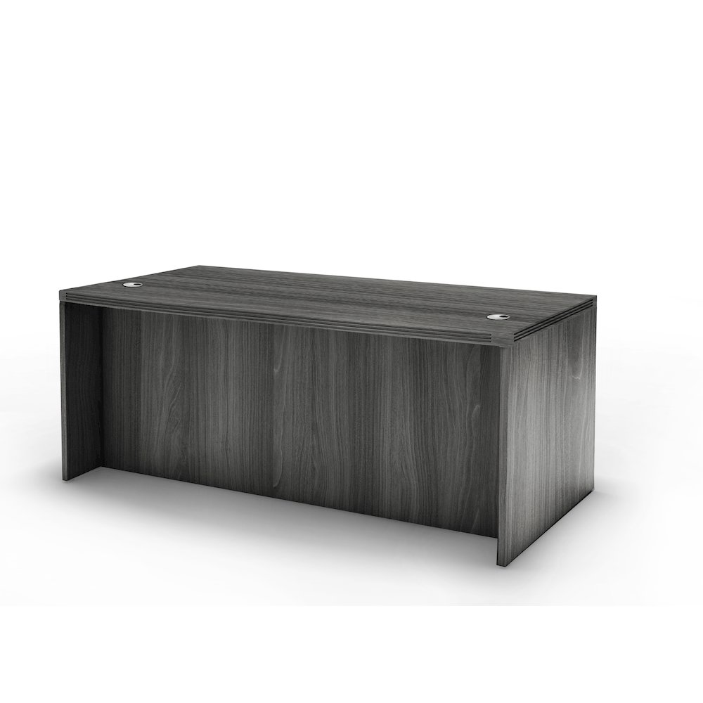 "60"" Rectangular Desk, Gray Steel"