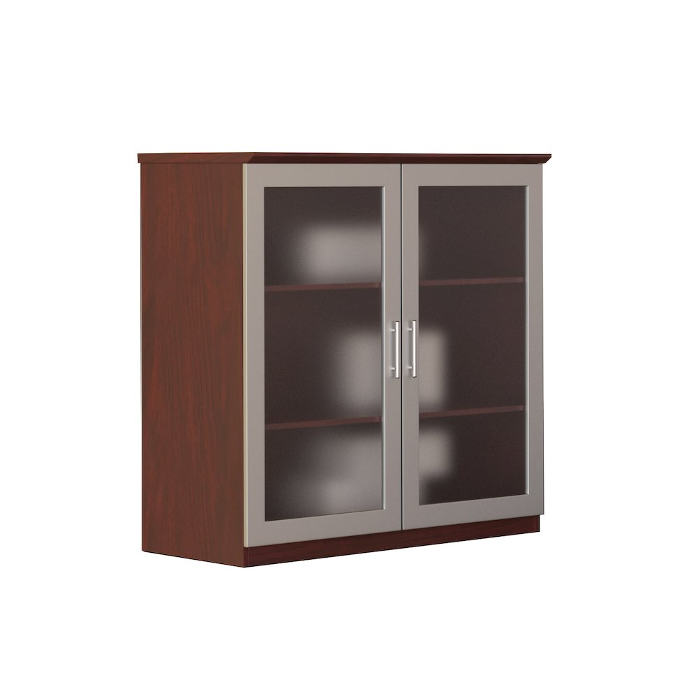 36 Glass Door Cabinet Mahogany