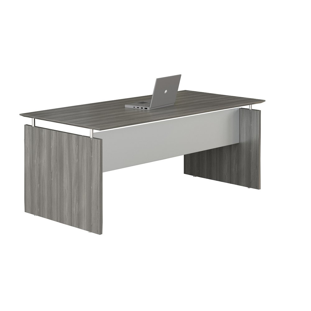 72 Quot Rectangle Straight Desk Gray Steel