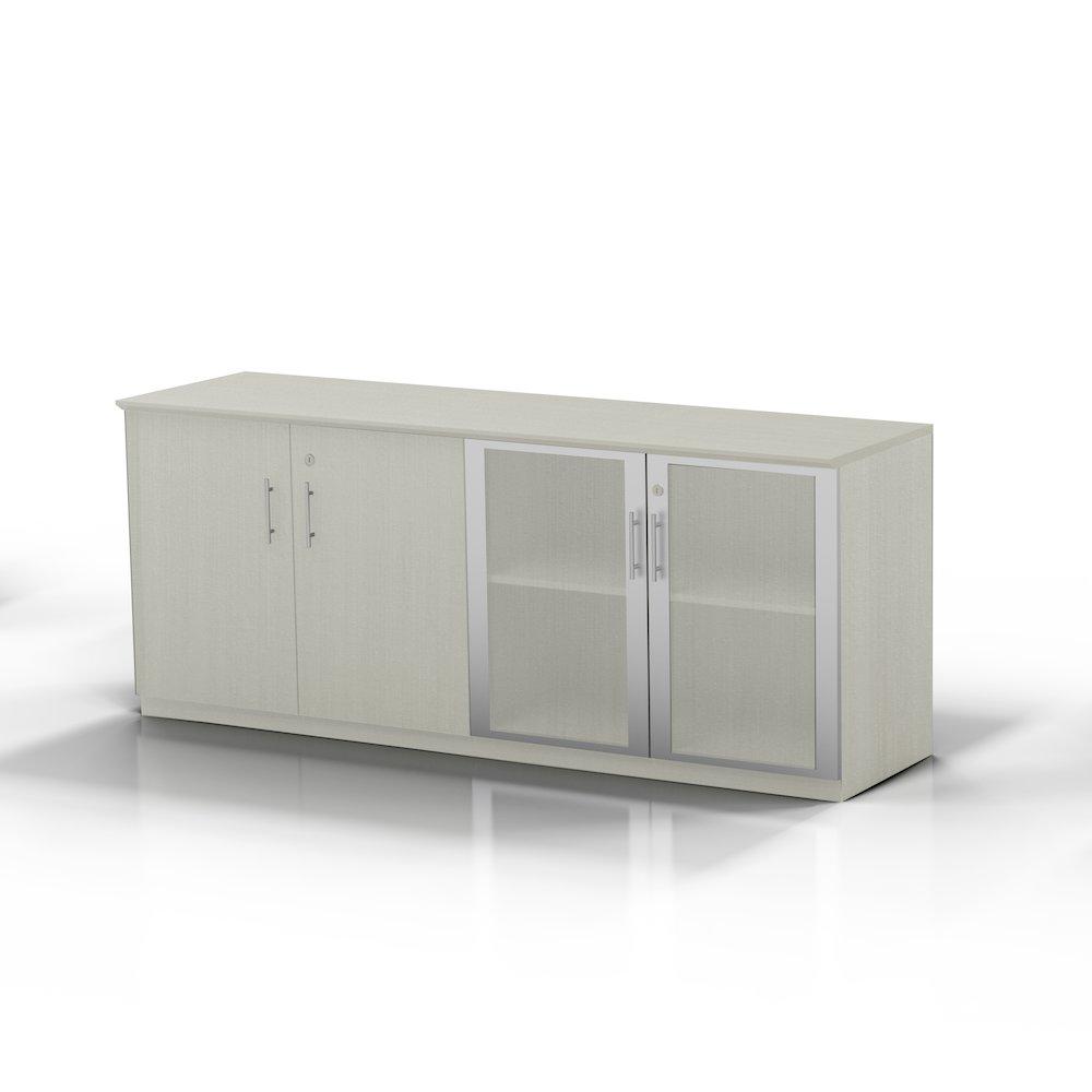 Low Wall Cabinet With Doors Wood Glass Door Combination