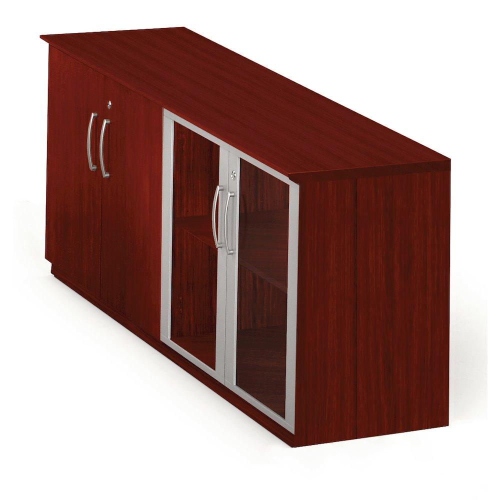 low wall cabinet with doors wood glass door combination mahogany. Black Bedroom Furniture Sets. Home Design Ideas