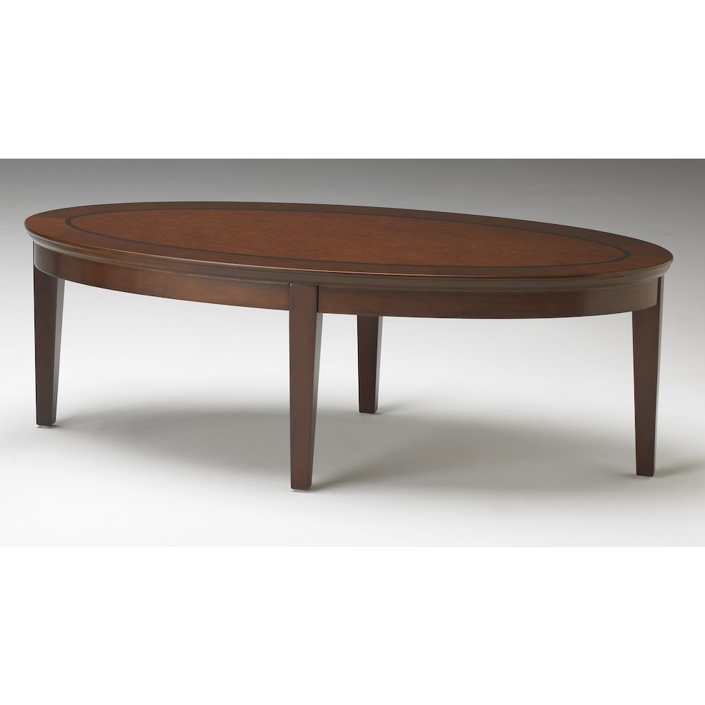 Reception Stations Occasional Tables Coffee Table Oval Bourbon Cherry