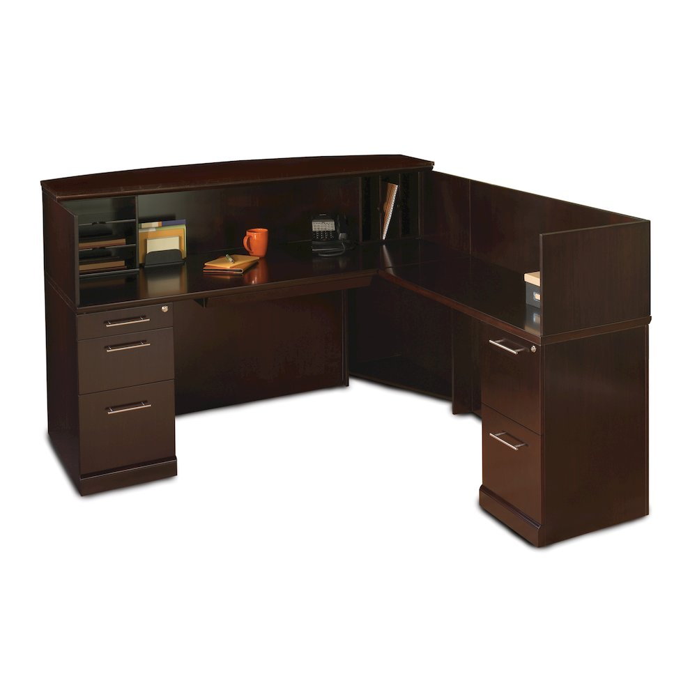 Reception Stations Occasional Tables Reception Desk With Veneer Counter Espresso