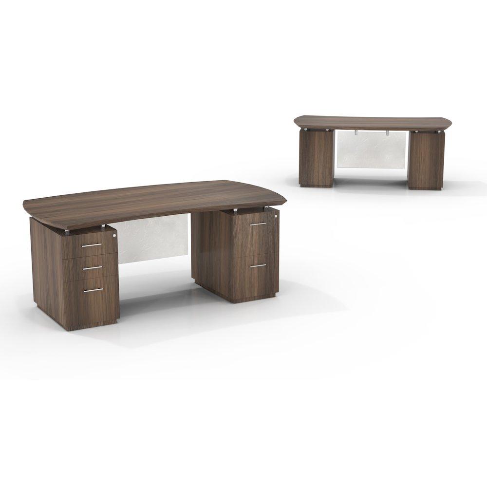 72 Quot W Double Pedestal Desk W 1 Box Box File And 1 File File