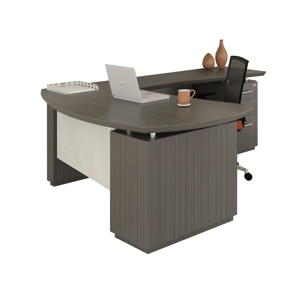 Quot L Quot Shaped Left Handed 66 Quot Desk System With 1 B B F