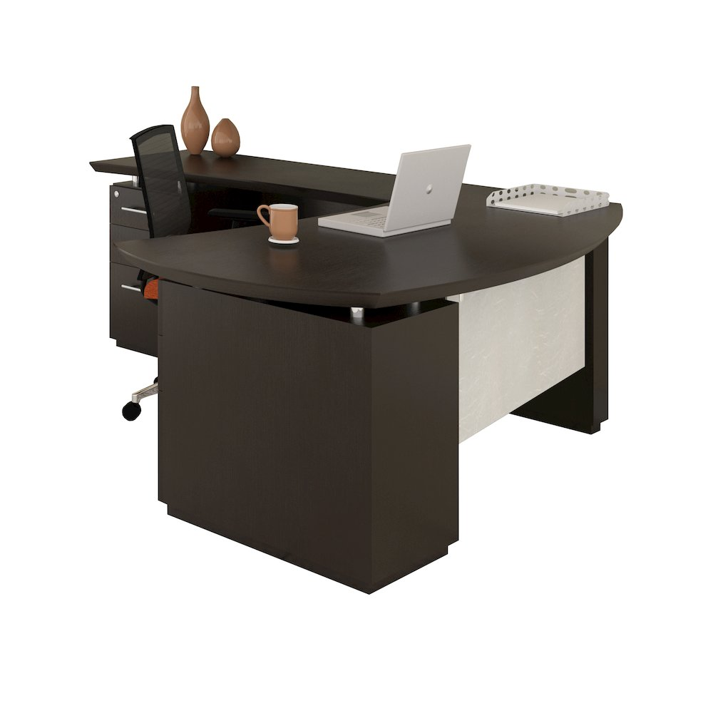 Quot L Quot Shaped Right Handed 72 Quot Desk System With 1 B B F