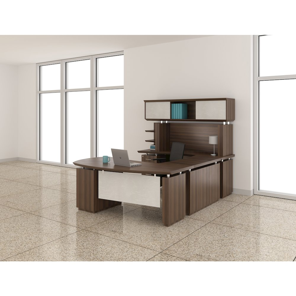 Quot U Quot Shaped Right Handed 72 Quot Desk System With Bridge