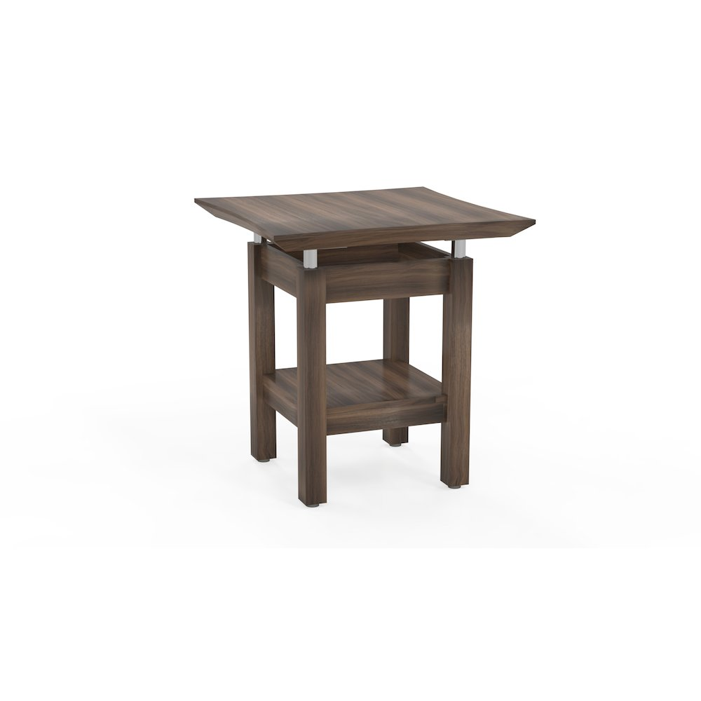 24 Quot Square End Table Textured Brown Sugar