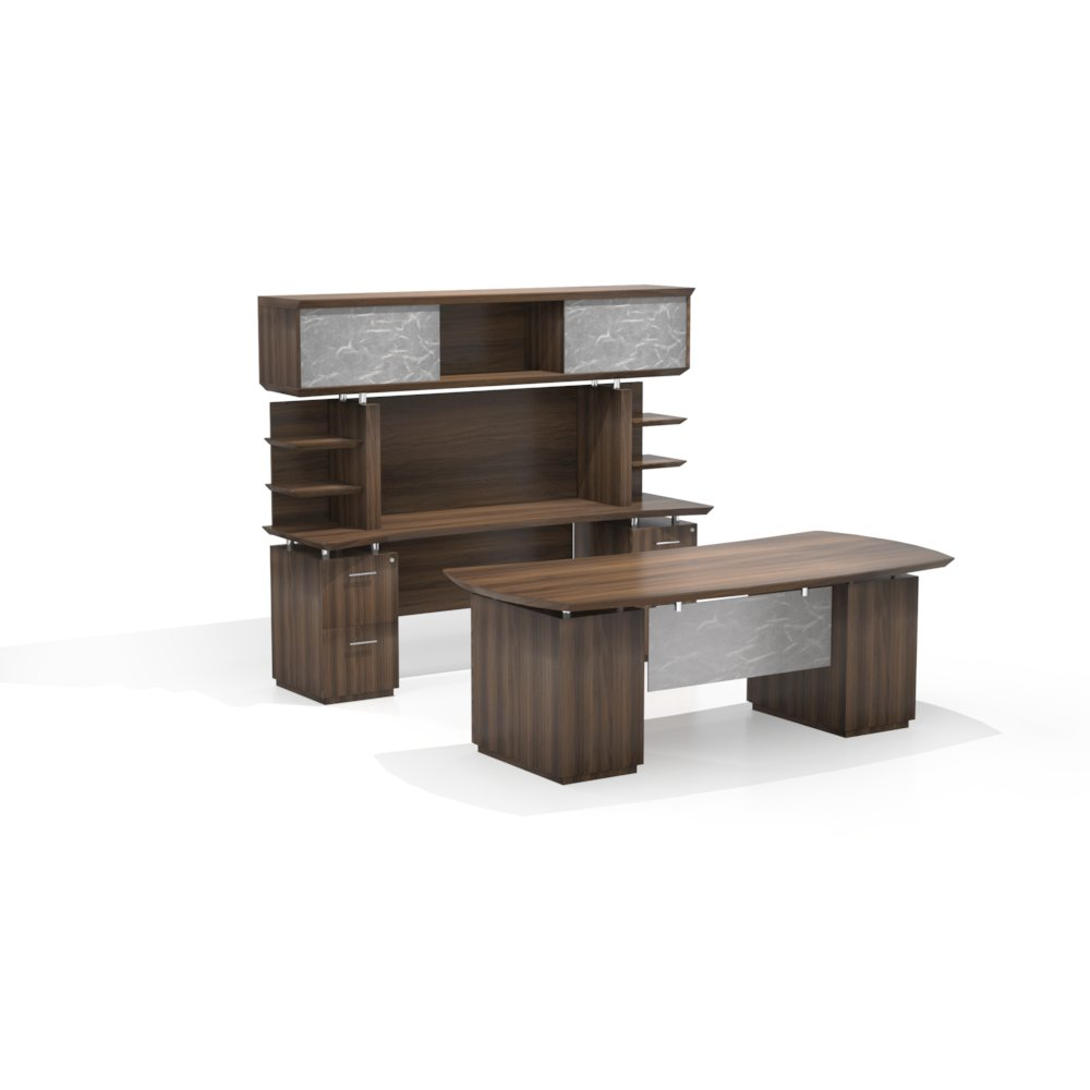72 Quot Desk With 2 B B F Pedestals 72 Quot Credenza With 2 F