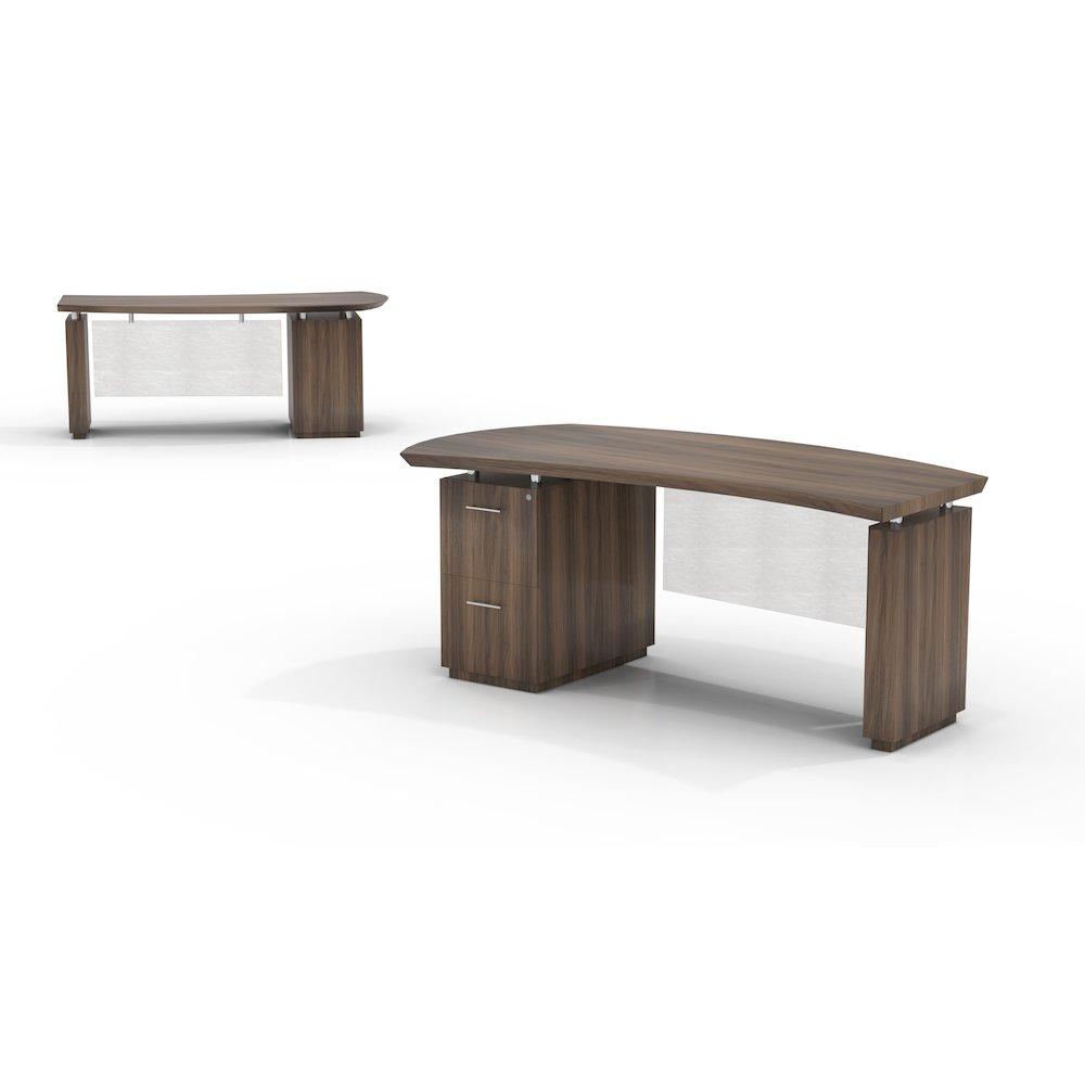 72 Quot Single Pedestal Desk Left Handed With 1 File File