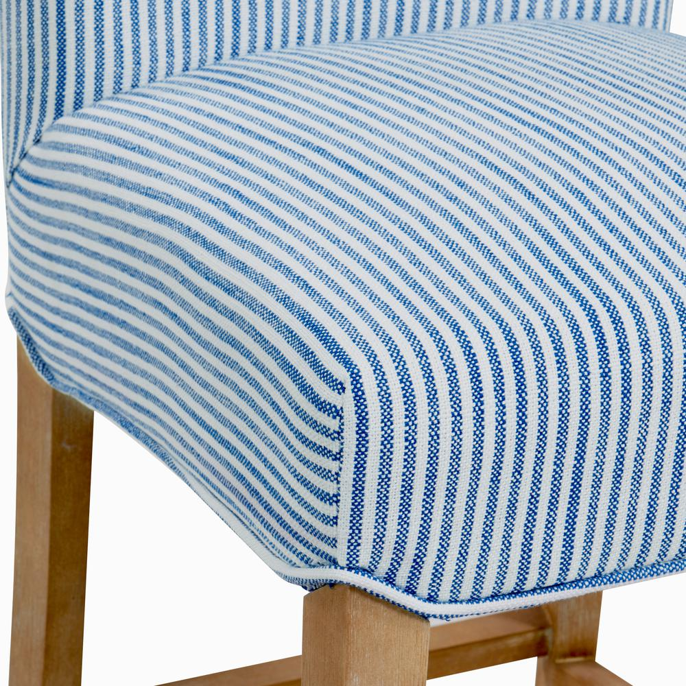 Milton Fabric Counter Stool, Blue Stripes. Picture 6