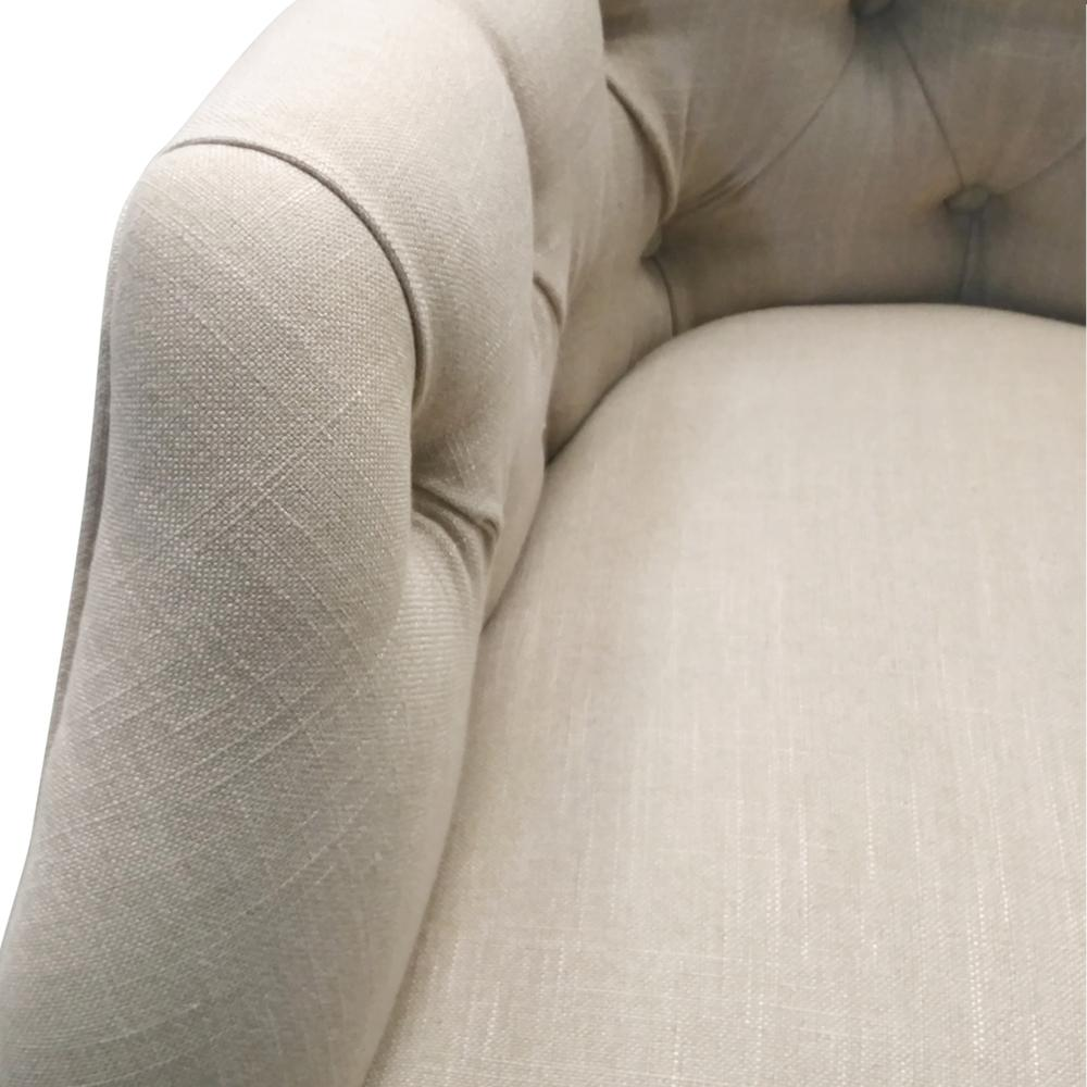 Abigail Fabric Tufted Rocking Chair, Flax. Picture 6