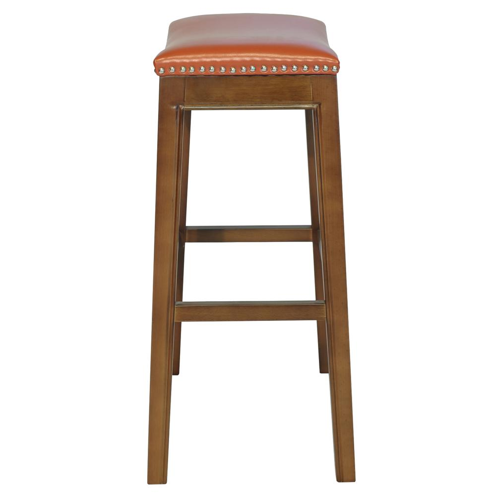 Elmo Bonded Leather Bar Stool - Pumpkin. Picture 4