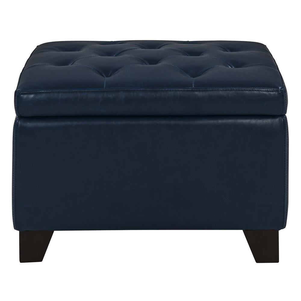 Julian Rectangular Bonded Leather Storage Ottoman Vintage