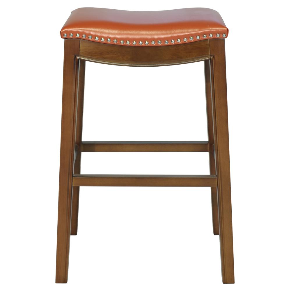 Elmo Bonded Leather Bar Stool - Pumpkin. Picture 3