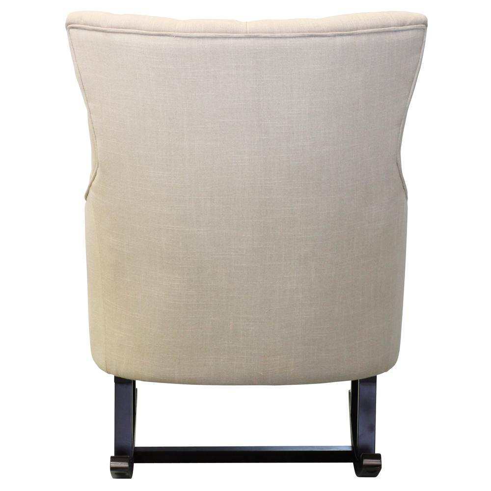 Abigail Fabric Tufted Rocking Chair, Flax. Picture 5