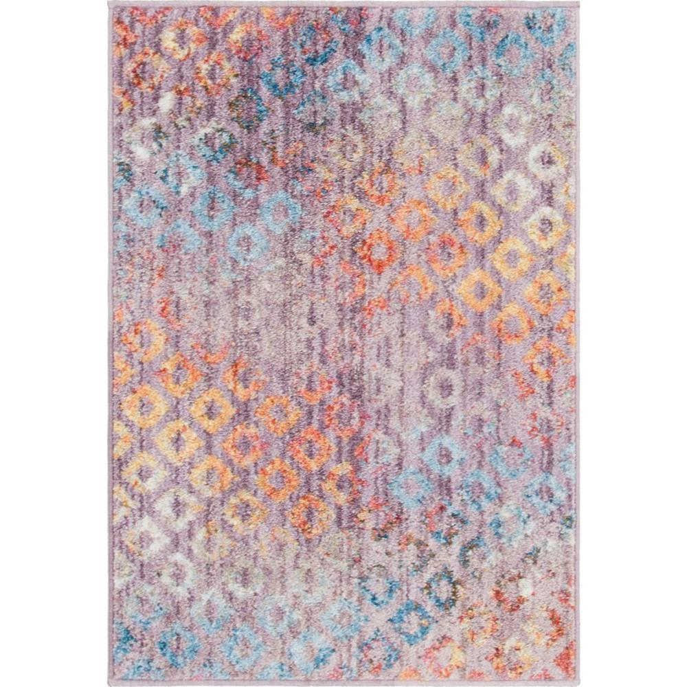 Rainbow Spectral Rug, Violet (2' 2 x 3' 0). Picture 1