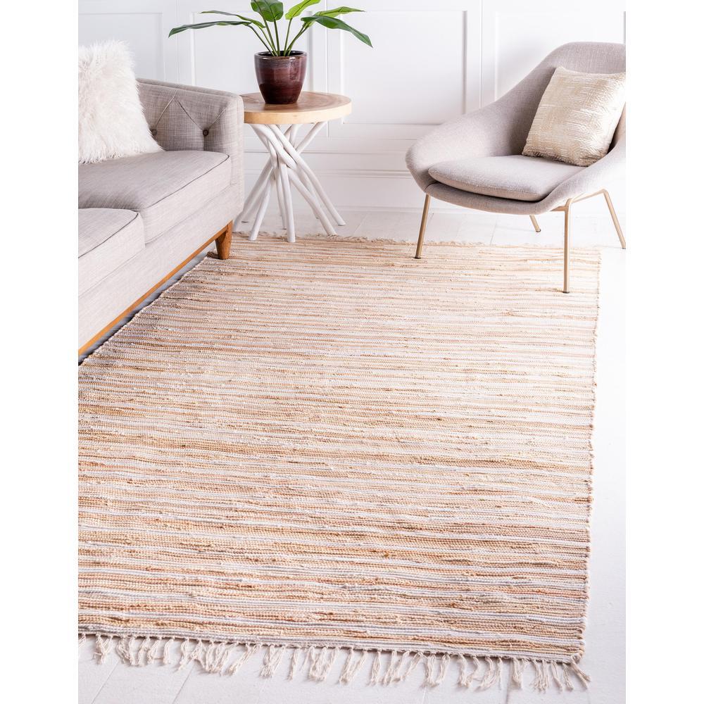 Unique Loom Striped Chindi Cotton Rug