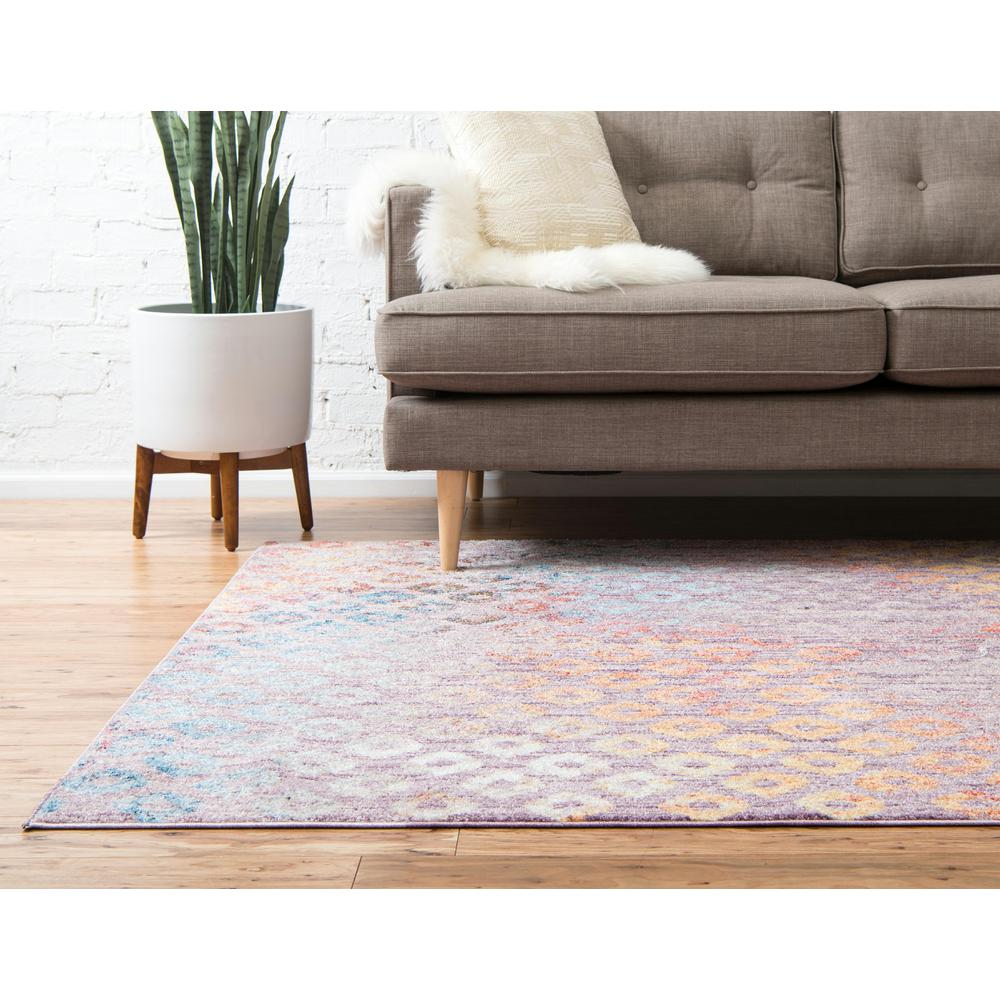 Rainbow Spectral Rug, Violet (2' 2 x 3' 0). Picture 4