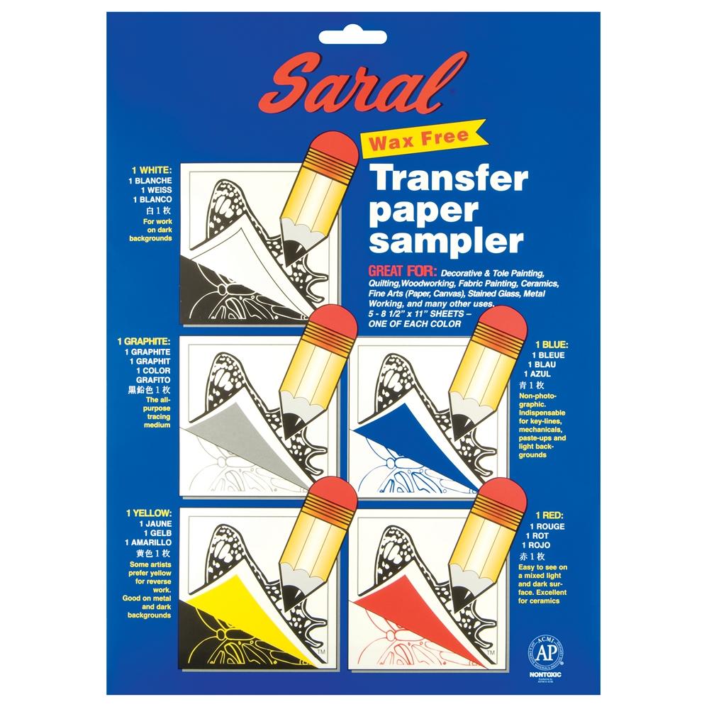 8 5 Quot X 11 Quot Wax Free Transfer Paper Sampler
