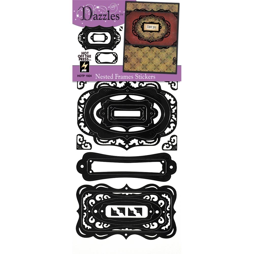 Stickers Nested Frames Black