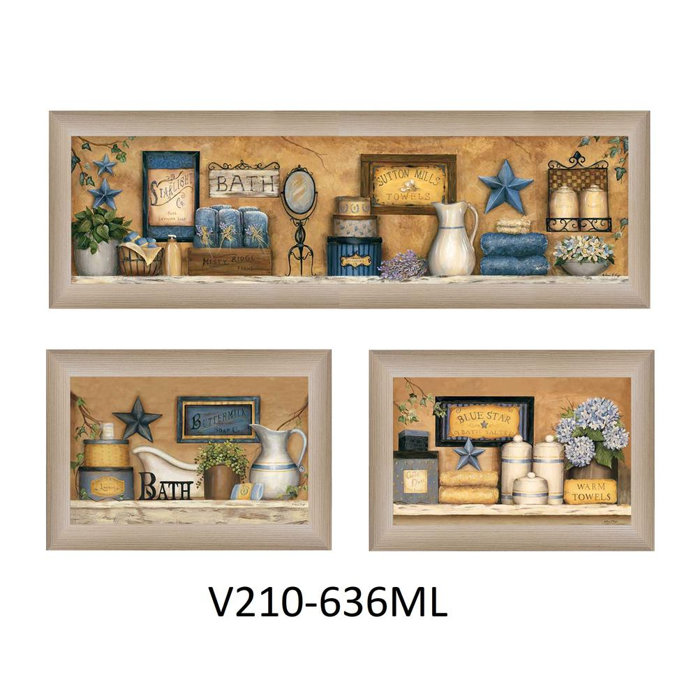 """""""Bathroom Collection III"""" Collection By Carrie Knoff, Beige Frame. Picture 1"""