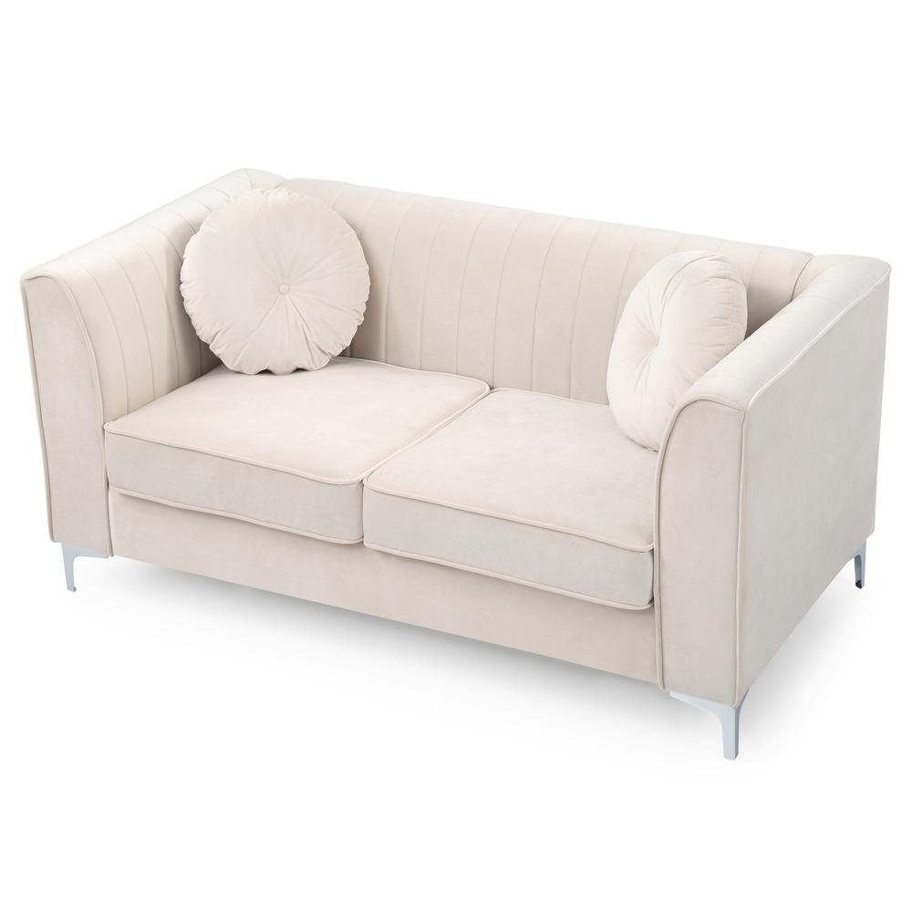 Glory Furniture Delray G797a L Loveseat Ivory