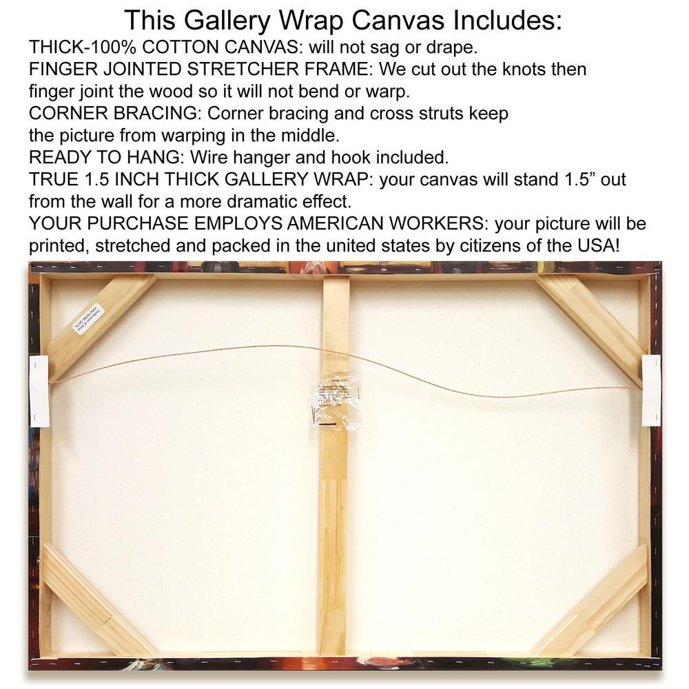 """Orange Lite 2"" By Jan Weiss, Fine Art Giclee Print on Gallery Wrap Canvas. Picture 2"