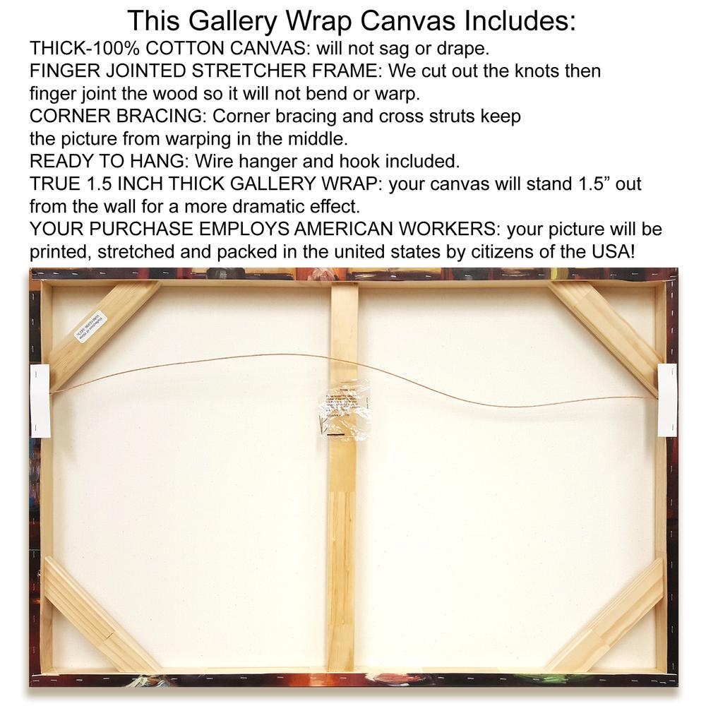 """""""Organic Dairy Farm"""" By Eric Yang, Giclee Print on Gallery Wrap Canvas, 1.5"""" x 25"""", BAEY19300-3226c. Picture 2"""