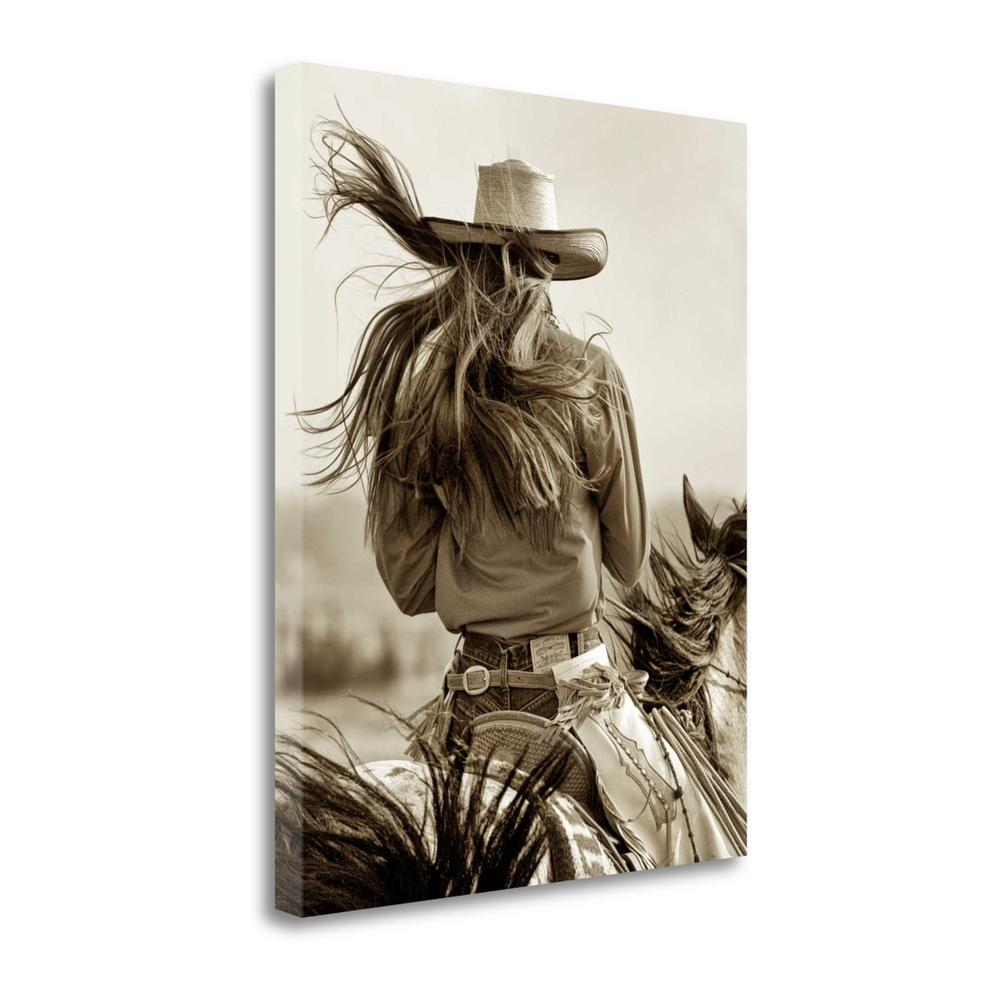 """Cowgirl"" By Lisa Dearing, Fine Art Giclee Print on Gallery Wrap Canvas. Picture 1"