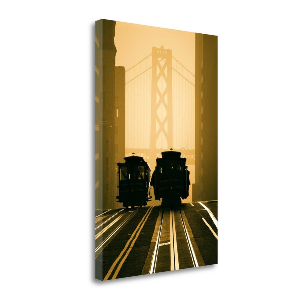 """""""Cable Cars San Francisco"""" By Mitchell Funk, Giclee Print on Gallery Wrap Canvas. Picture 1"""