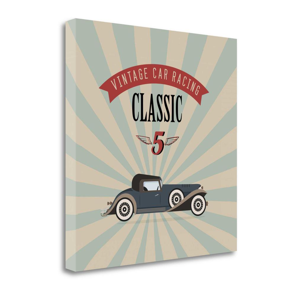 """""""Vintage Racing 4"""" By Graphinc Studio, Giclee Print on Gallery Wrap Canvas. Picture 1"""