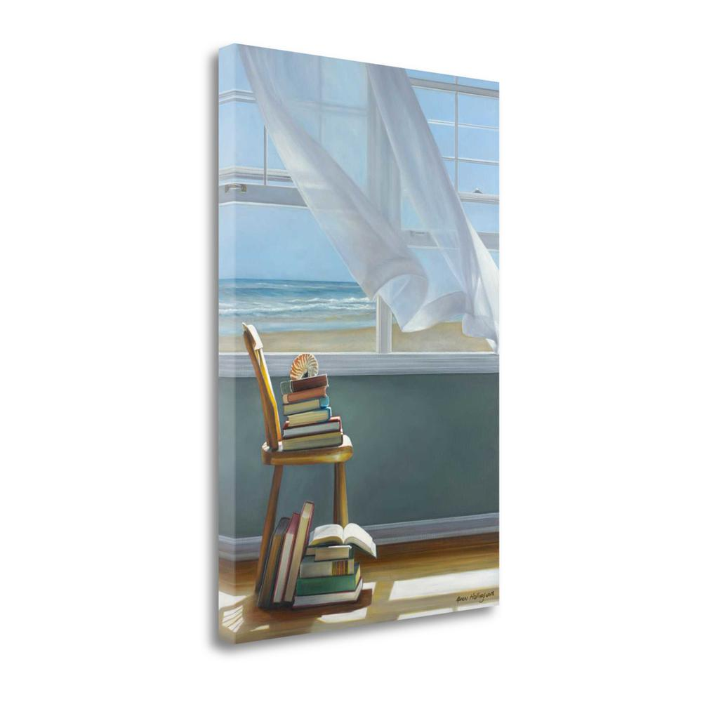 """""""Summer Reading List"""" By Karen Hollingsworth, Giclee on Gallery Wrap Canvas. Picture 1"""