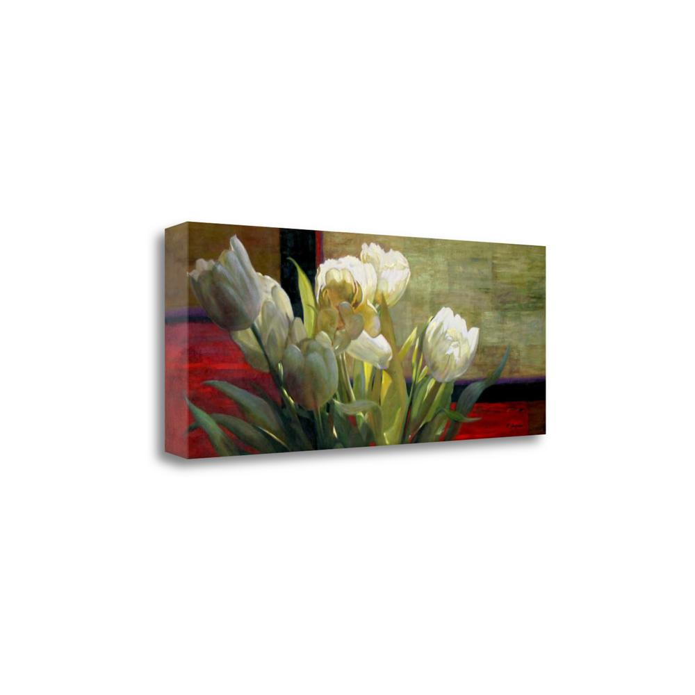 """""""Tulips With Red"""" By Jan Mclaughlin, Giclee Print on Gallery Wrap Canvas. Picture 1"""