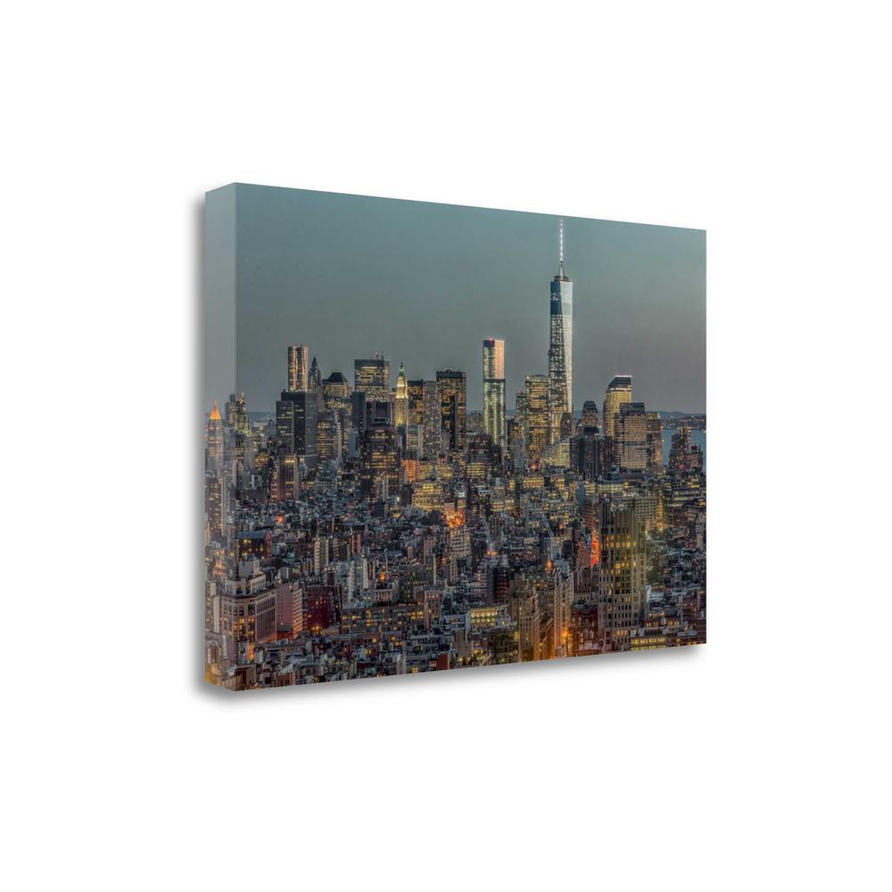 """""""Downtown Skyline 12"""" By Richard Silver, Giclee Print on Gallery Wrap Canvas. Picture 1"""