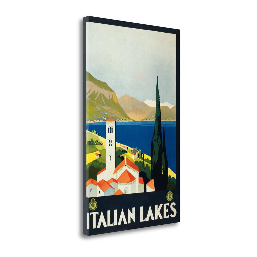 """""""Italian Lakes"""" By Unknown, Fine Art Giclee Print on Gallery Wrap Canvas. Picture 1"""