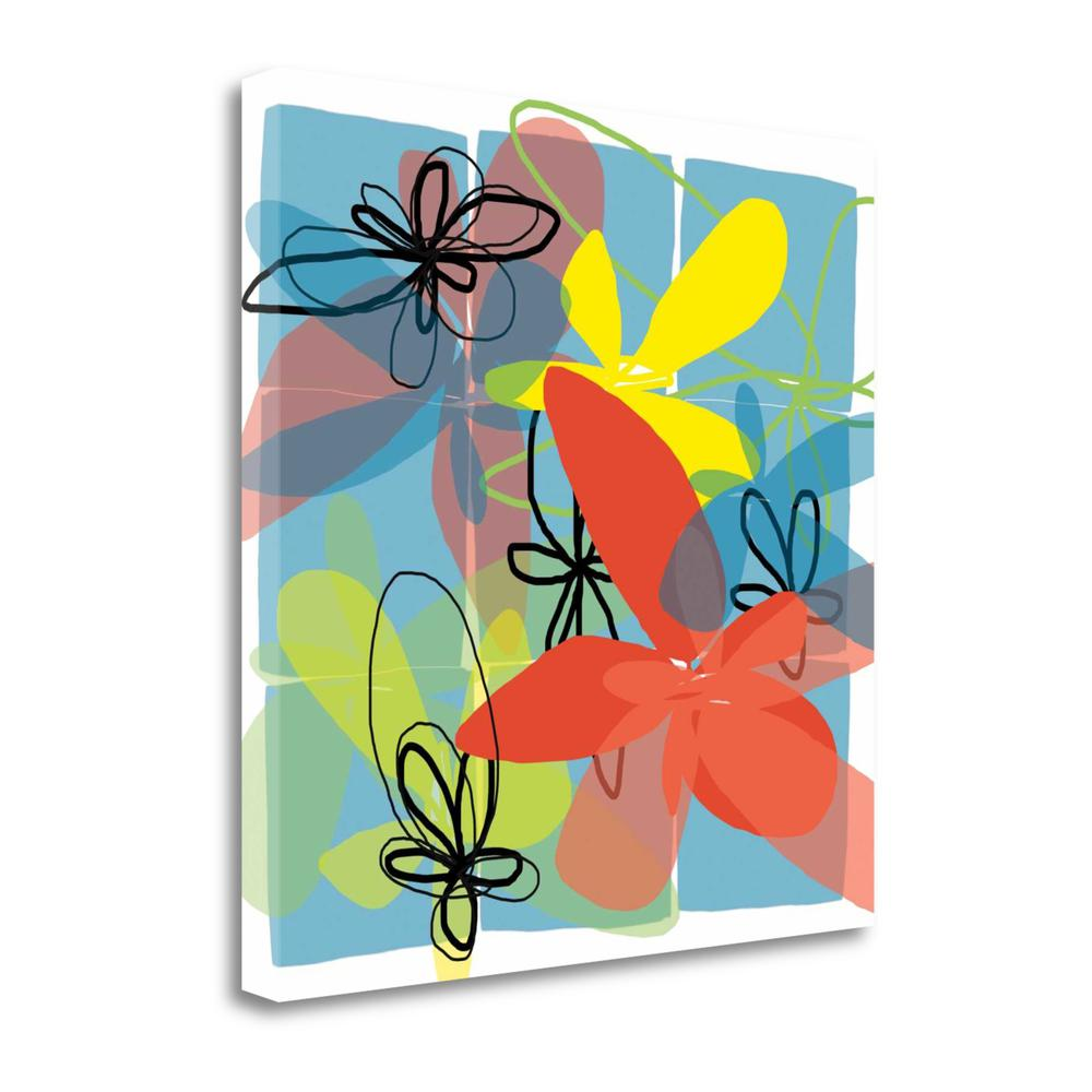 """""""Pop Goes Space Two"""" By Jan Weiss, Giclee Print on Gallery Wrap Canvas. Picture 1"""