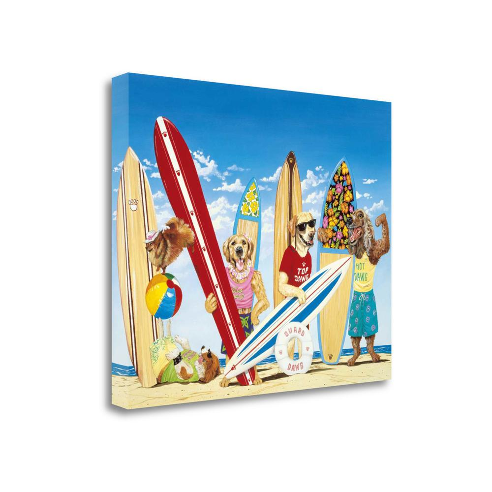 """""""K - 9 Surf Club"""" By Scott Westmoreland, Giclee Print on Gallery Wrap Canvas. Picture 1"""