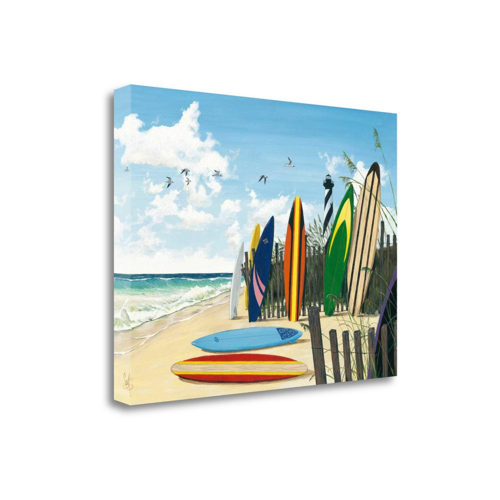 """""""Surf Boards"""" By Scott Westmoreland, Giclee Print on Gallery Wrap Canvas. Picture 1"""