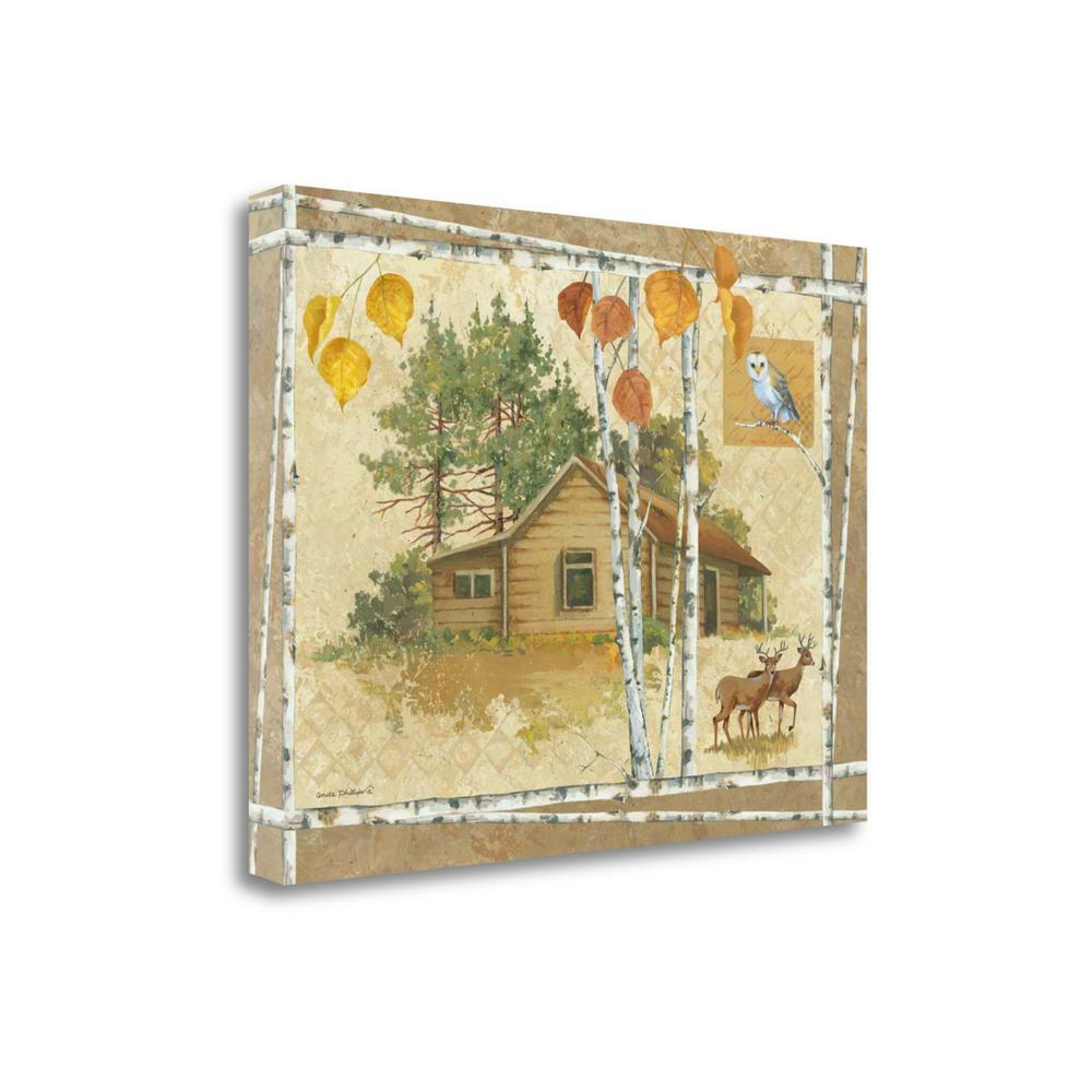 """""""Deer Cabin"""" By Anita Phillips, Fine Art Giclee Print on Gallery Wrap Canvas. Picture 1"""