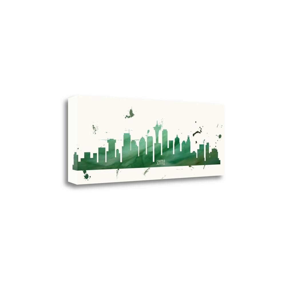 """""""Super Green Seattle"""" By Anna Quach, Giclee Print on Gallery Wrap Canvas. Picture 1"""
