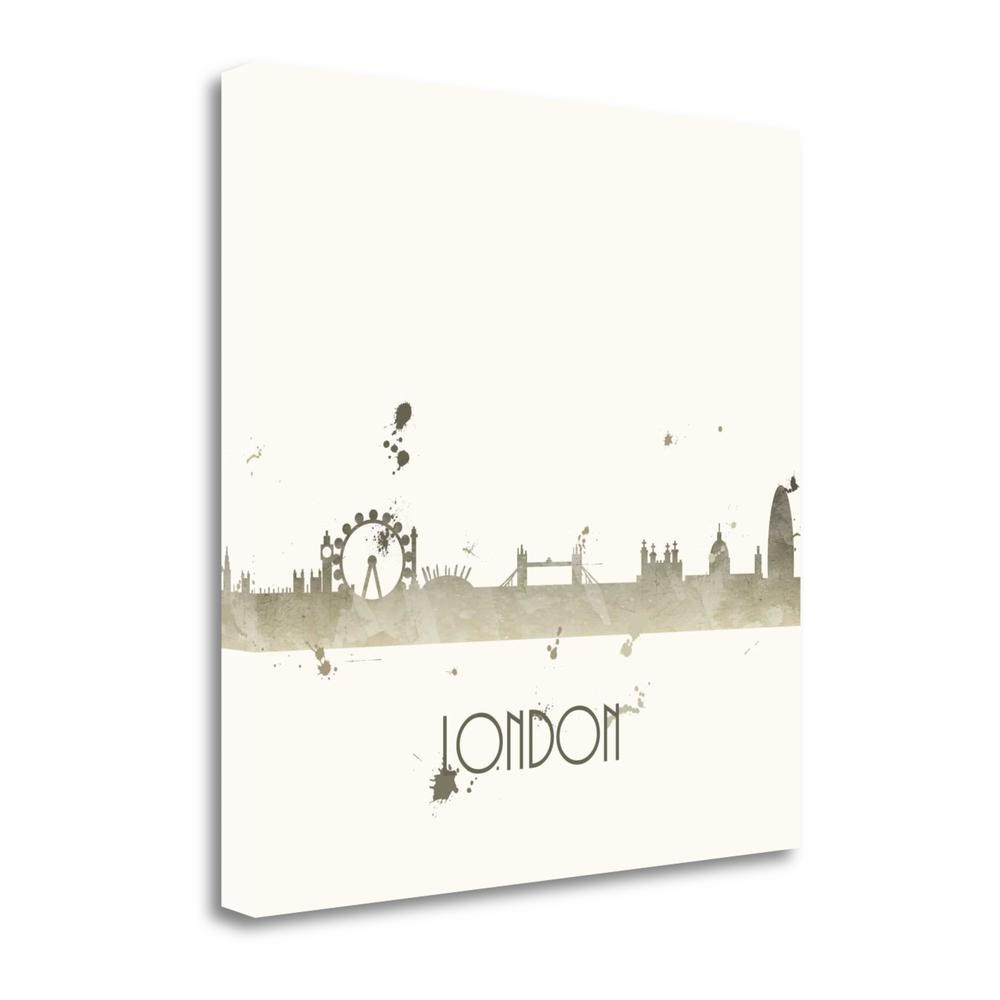 """Grey London - Sq."" By Anna Quach, Giclee Print on Gallery Wrap Canvas. Picture 1"