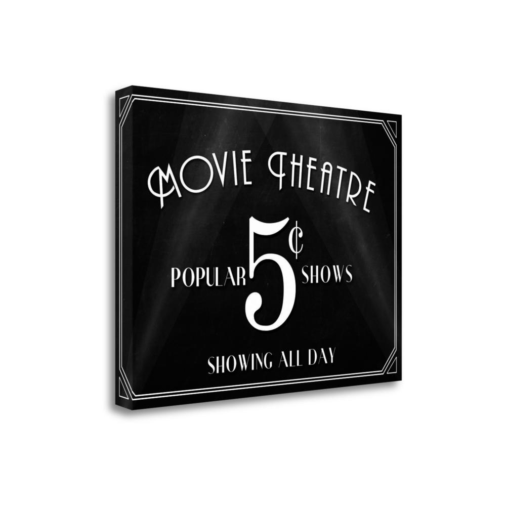 """""""Movie Theatre"""" By Aubree Perrenoud, Giclee Print on Gallery Wrap Canvas. Picture 1"""