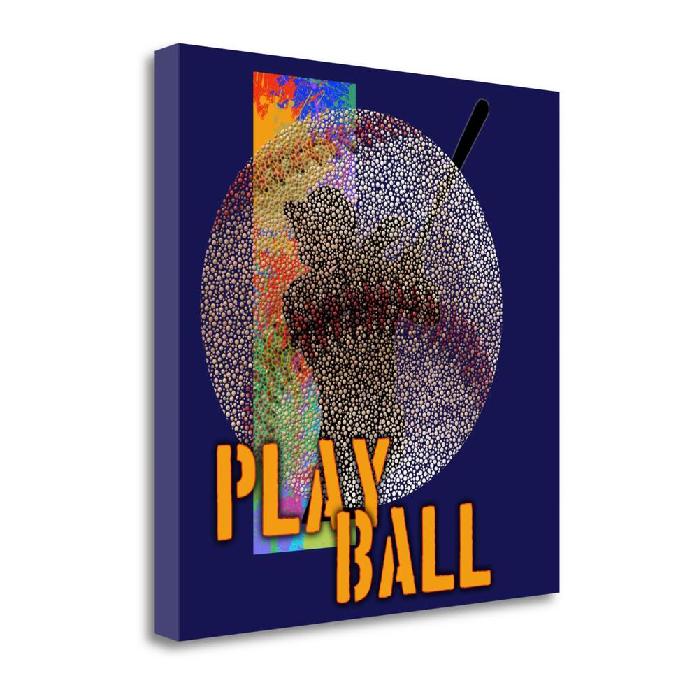 """""""Play Baseball - Blue"""" By Jim Baldwin, Giclee Print on Gallery Wrap Canvas. Picture 1"""